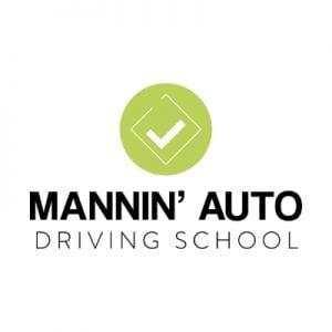 Mannin Auto Driving School Logo Design