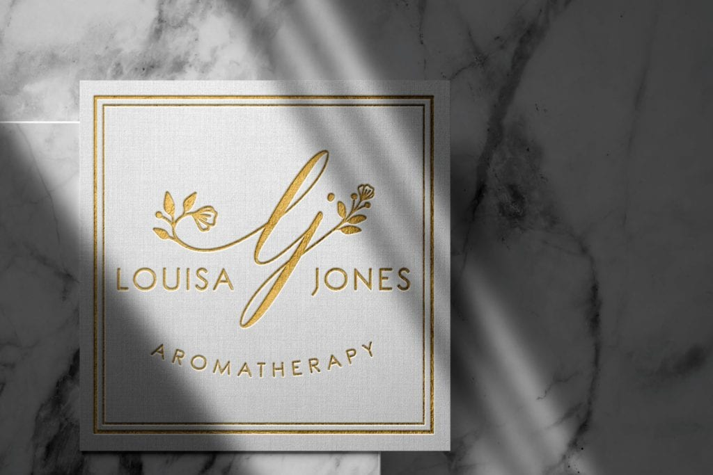 Louisa Jones Aromatherapy Logo Design