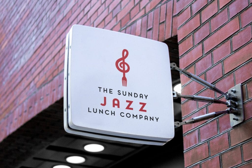 The Sunday Jazz Lunch Company Logo Design